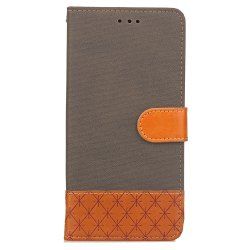 Hit Color Cowboy Stripe Leaf Card Lanyard Pu Leather for Samsung J5 (2016) -