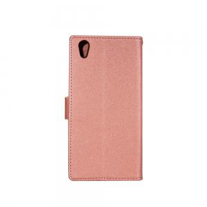 Wkae Printed Rattan Shoes Leather Case Cover with Holder Lanyard and Card Slots for Sony Xperia L1 -