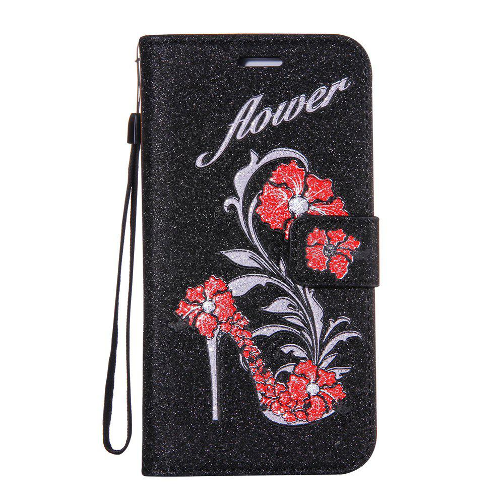 Buy Wkae Printed Rattan Shoes Leather Case Cover with Holder Lanyard and Card Slots for Sony Xperia L1
