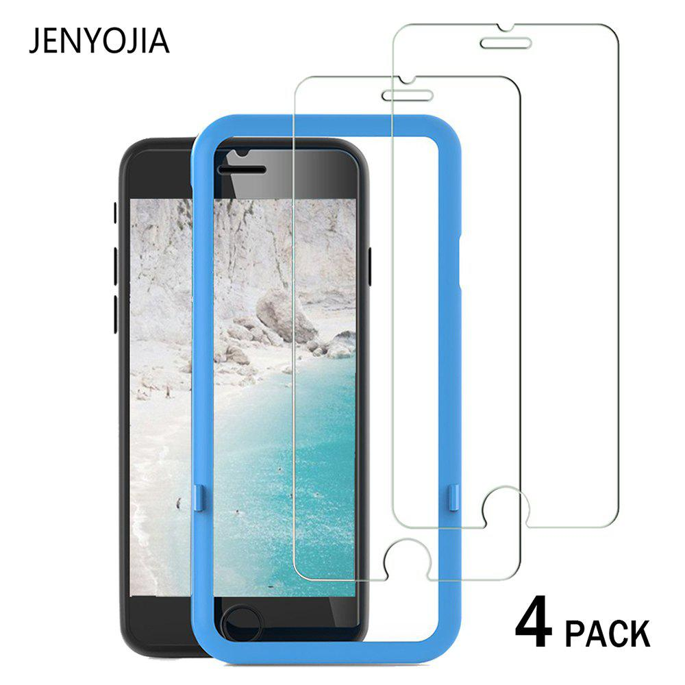 JENYOJIA 4 PACK Screen Protector Tempered Glass 3D Touch Compatible Anti-scratch Anti-Fingerprint 2.5D Edge 9H Hardness for iPhone 6 / 6SHOME<br><br>Color: TRANSPARENT;