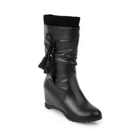 Online Women's Boots Stylish Solid Bow Decoration Tassel Lady's Shoes