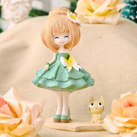 839 Sweet Home Decoration Resin Candy Doll