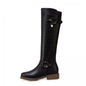New Style Low Heel Buckles The European and American Style High Boots -
