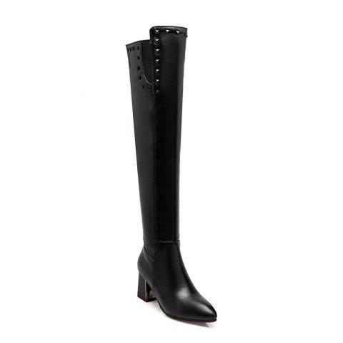 Trendy In Autumn and Winter New Fashionable Medium Thick Heel Boots