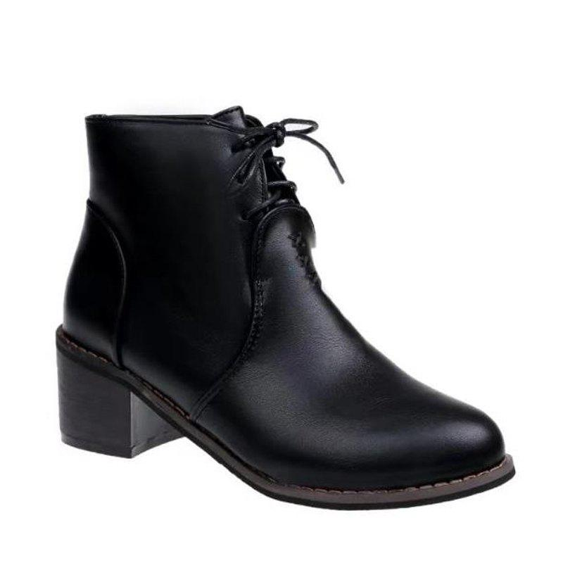 Hot Martin Pointed All-Match Fashion Lace Up Boots