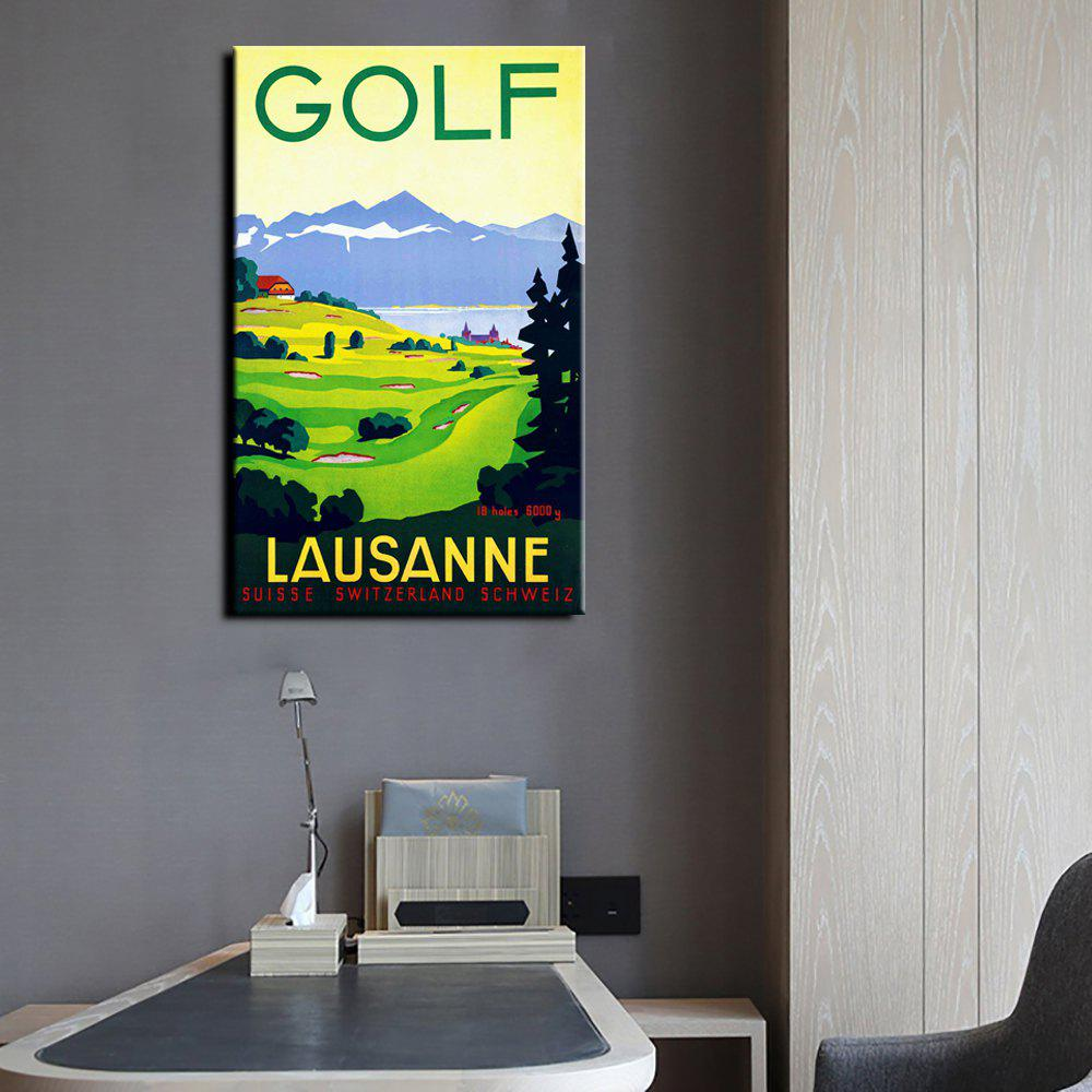 Outfit YHHP Canvas Print Pop Art Poster Golf Wall Decor for Home Decoration