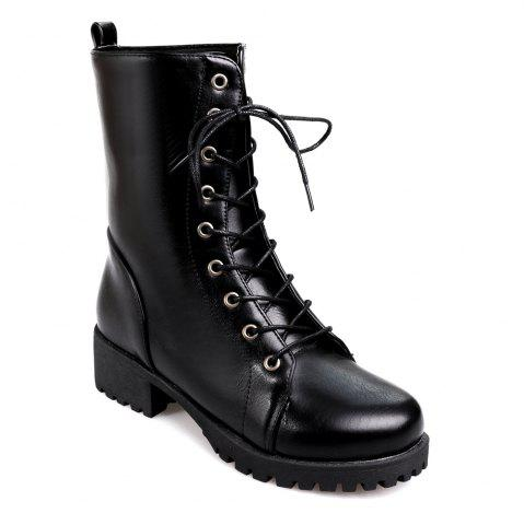 Chic Women's Martin Boots Fashion Lacing Comfy All Match Boots