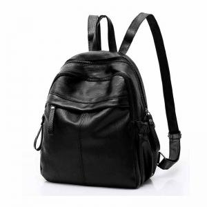 Korean Fashion Solid Color All Match Simple Backpack -