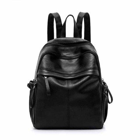 Chic Korean Fashion Solid Color All Match Simple Backpack