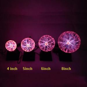 Novelty Plasma Ball Night Lighting Electronic Magic Table Lamp Electrostatic Christmas Decor for Home Birthday Gifts Children's Toys Glass Shade -