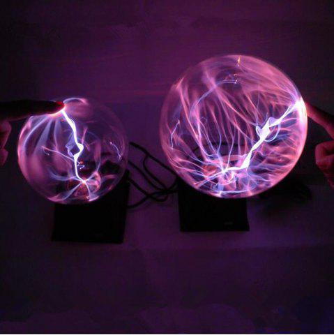 Unique Novelty Plasma Ball Night Lighting Electronic Magic Table Lamp Electrostatic Christmas Decor for Home Birthday Gifts Children's Toys Glass Shade