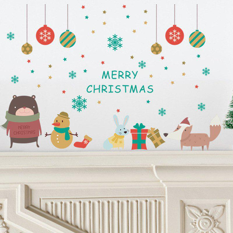 Tree Merry Christmas Wall Stickers Mural Decal Paper Winter Art Holiday Room DecorHOME<br><br>Color: COLORMIX; Type: Plane Wall Sticker; Subjects: Cartoon,Christmas; Art Style: Plane Wall Stickers; Color Scheme: Others; Artists: Others; Function: Decorative Wall Sticker; Material: Vinyl(PVC); Suitable Space: Boys Room,Cafes,Dining Room,Game Room,Girls Room,Hotel,Kids Room,Kids Room; Layout Size (L x W): 25 x 70cm; Effect Size (L x W): 50 x 76cm; Quantity: 1;