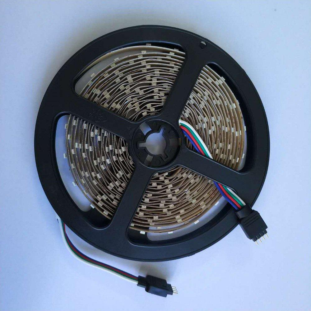 1PCS 5M 16.4FT Flexible RGB LED Strip Light 300SMD 5050 Not Waterproof DC5V Black PCBHOME<br><br>Color: RGB COLOR; Type: Flexible LED Light Strips,LED Strip Light,RGB Strip Lights; Length ( m ): 5; Light color: RGB; Wattage (W): 15; Voltage: DC 5V; Power Supply: 5V,USB; Features: Cuttable,Festival Lighting; Width( mm ): 10mm; Light Source: 5050 SMD,Energy Saving,LED; Beam Angle: 360°; Initial Lumens ( lm ): 1480; LED Quantity: 300; Bulb Included: Yes; Color Temperature or Wavelength: 700 - 635nm (Red); 650 - 490nm (Green); 490 - 440 nm( Blue);