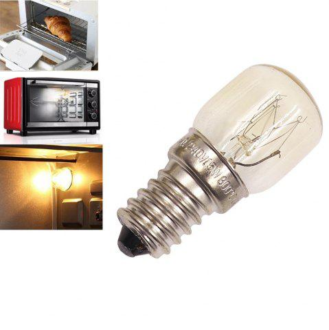 Outfits Oven Light Bulb E14 15W High Temperature 300 Degree Yellow Toaster Tungsten Filament Bulb