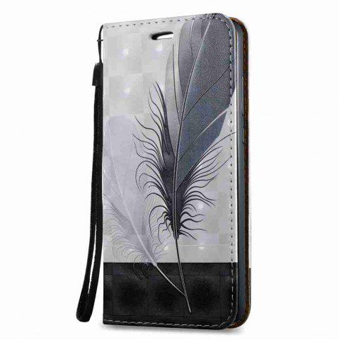 Best Magnetic 3D Embossed Painted Pu Phone Case for HUAWEI Y6 II