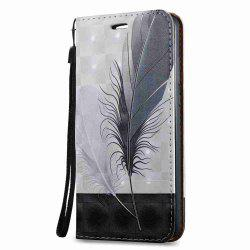 Magnetic 3D Embossed Painted Pu Phone Case for HUAWEI Y6 II -