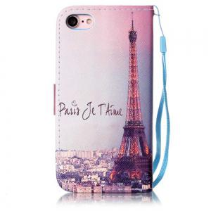 Signature Tower Painted PU Phone Case for iPhone 7 / 8 -