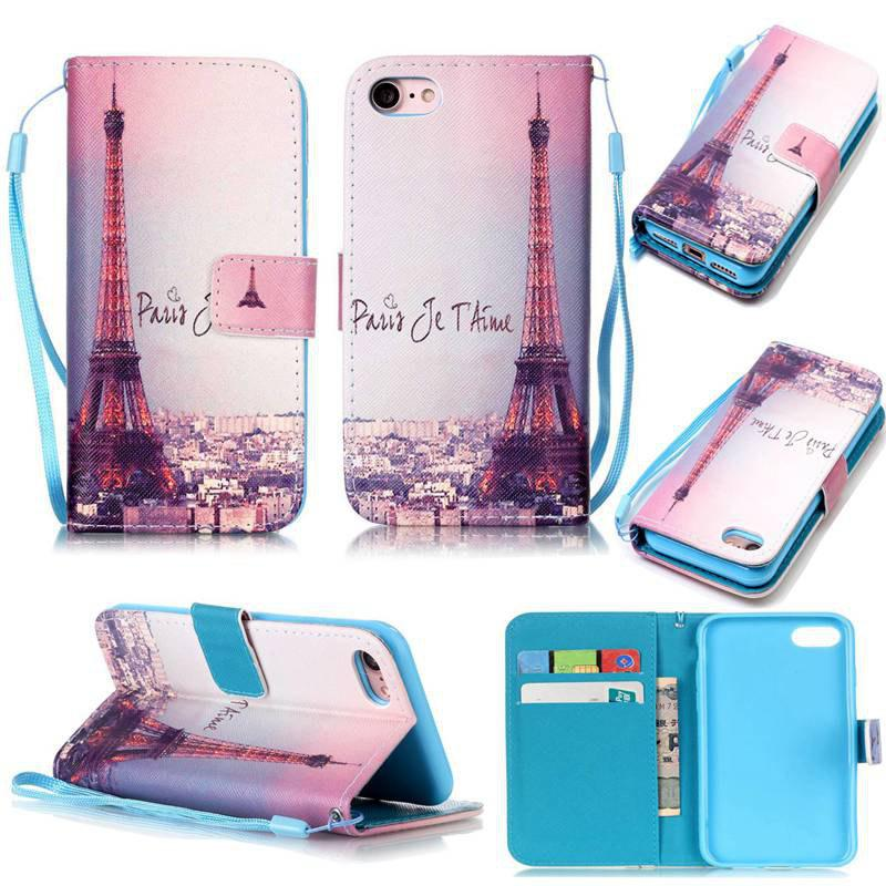 New Signature Tower Painted PU Phone Case for iPhone 7 / 8