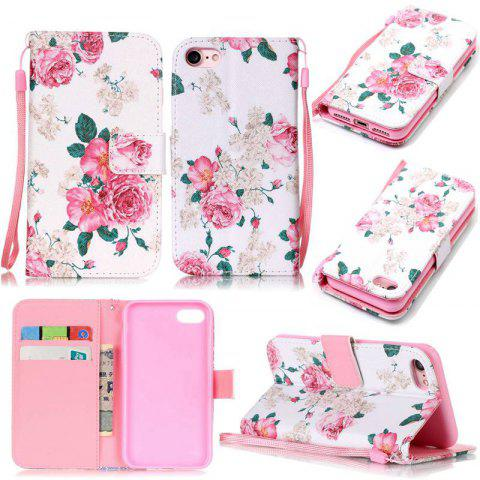 Discount White Flowers Painted PU Phone Case for iPhone 7 / 8