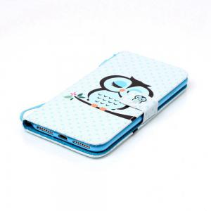 Sleep Owl Painted PU Phone Case for iPhone 7 Plus / 8 Plus -