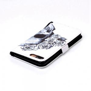 Skeleton Painted PU Phone Case for iPhone 7 Plus / 8 Plus -