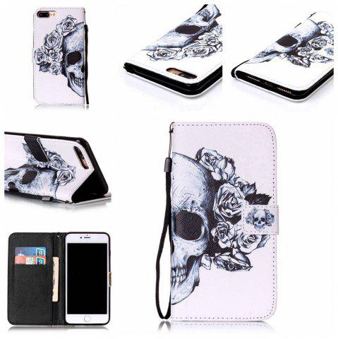 Discount Skeleton Painted PU Phone Case for iPhone 7 Plus / 8 Plus