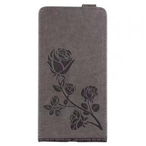 Embossed Rose Flower Pattern Vertical Flip Leather Case with Card Slot for Xiaomi Redmi Note 4/ Note4x High -