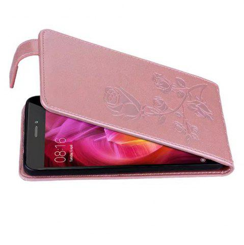 Buy Embossed Rose Flower Pattern Vertical Flip Leather Case with Card Slot for Xiaomi Redmi Note 4/ Note4x High