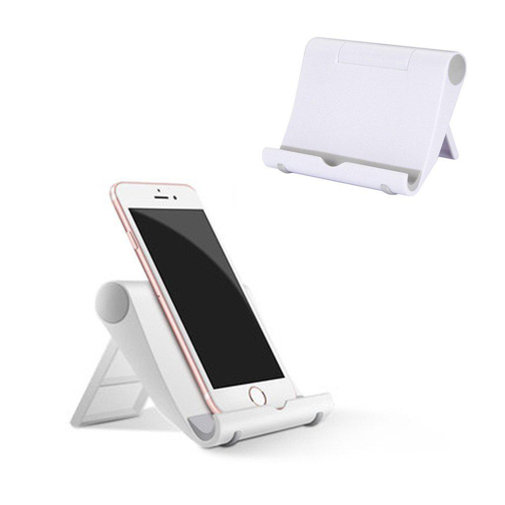 Multi-Angle Adjustable Portable Foldable Folding Universal Lazy Desktop Cell Phone Cradles Stands Mounts Holder Bracket for PC Tablets Smartphones E-ReadersHOME<br><br>Color: WHITE; Type: Mobile Holder; Material: PC,Silicone; Features: Stand with Adapter; Color: Black,White;
