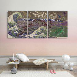 Special Design Frameless Paintings choppy of 3 -