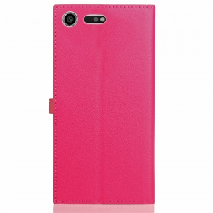 Velcro Business Card Lanyard Pu Leather for Sony Xz Premium -