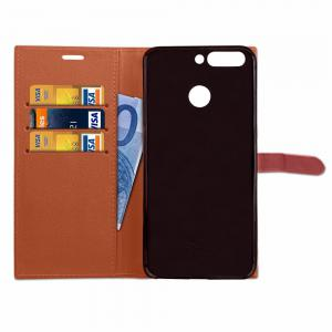Velcro Business Card Lanyard Pu Leather for HUAWEI Honor 8 Pro -