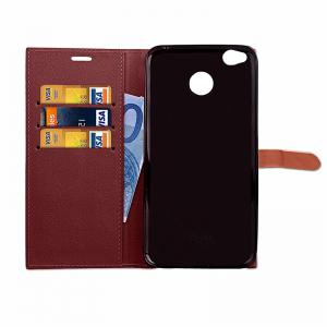 Business Card Slot Lanyard PU Leather Phone Case for Xiaomi Redmi 4X -