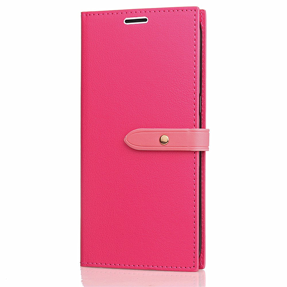 Chic Business Card Slot Lanyard PU Leather Phone Case for Xiaomi Redmi Note 4X