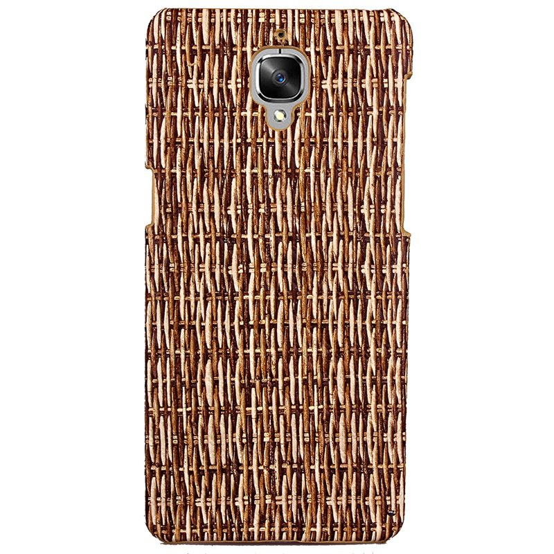 Solid Pattern Card Slot Lanyard PU Leather Phone Case for OnePlus 3HOME<br><br>Color: BROWN;
