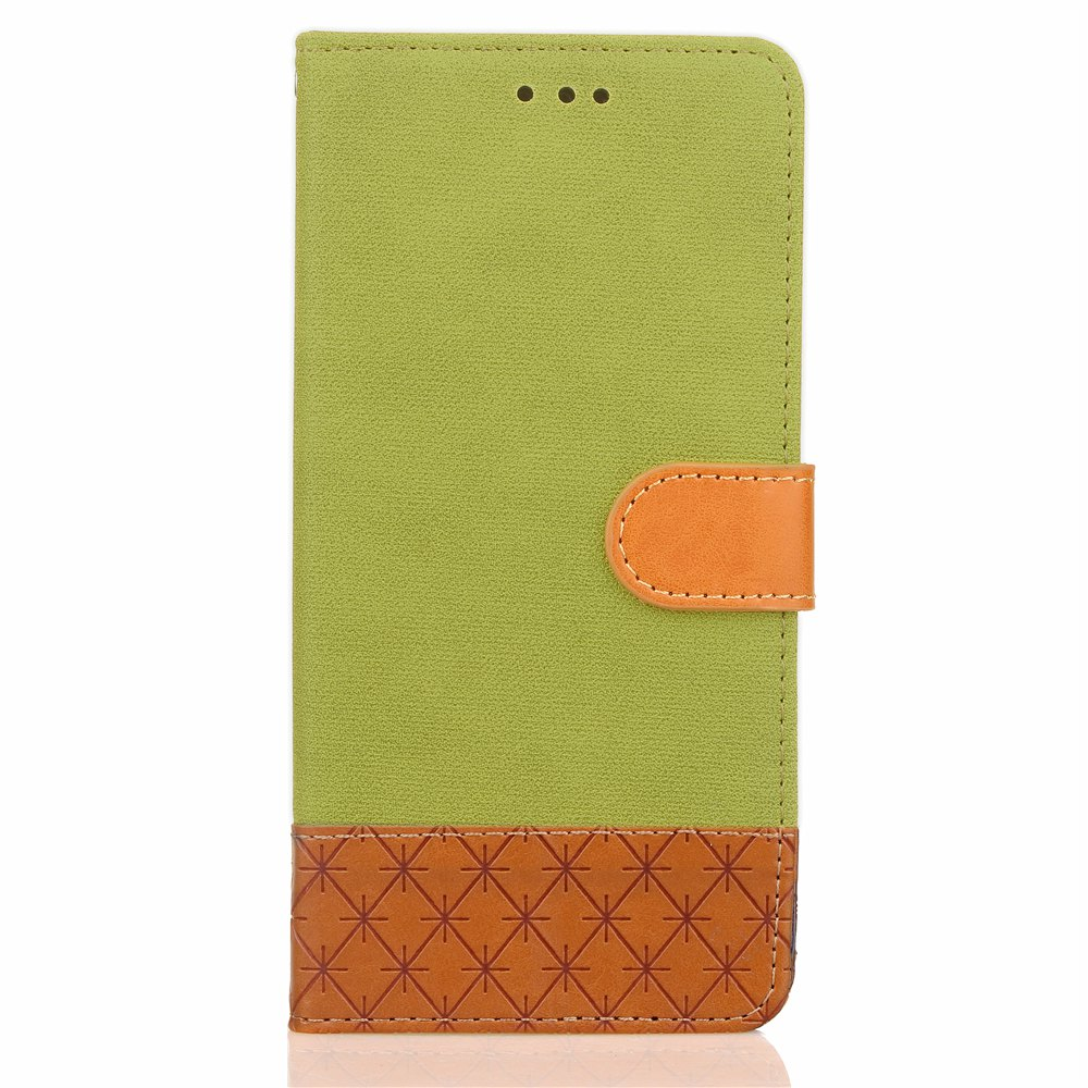 Best Hit Color Cowboy Stripe Leaf Card Lanyard PU Leather for iPhone X