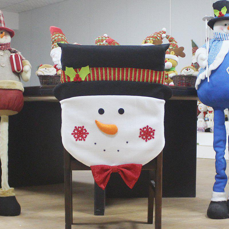 Buy WS 0097 Old Man Snowman Chair Cover Dinner Party Red Hat Rear Cover Christmas Decoration 2017