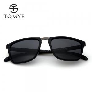 TOMYE P6071 Fashion Neutral PC Square Frame Polarized Sunglasses -