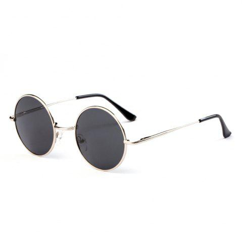 Shop TOMYE G103 Retro Metal Round Frame Unisex Polarized Sunglasses
