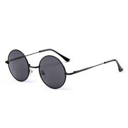 TOMYE G103 Retro Metal Round Frame Unisex Polarized Sunglasses -