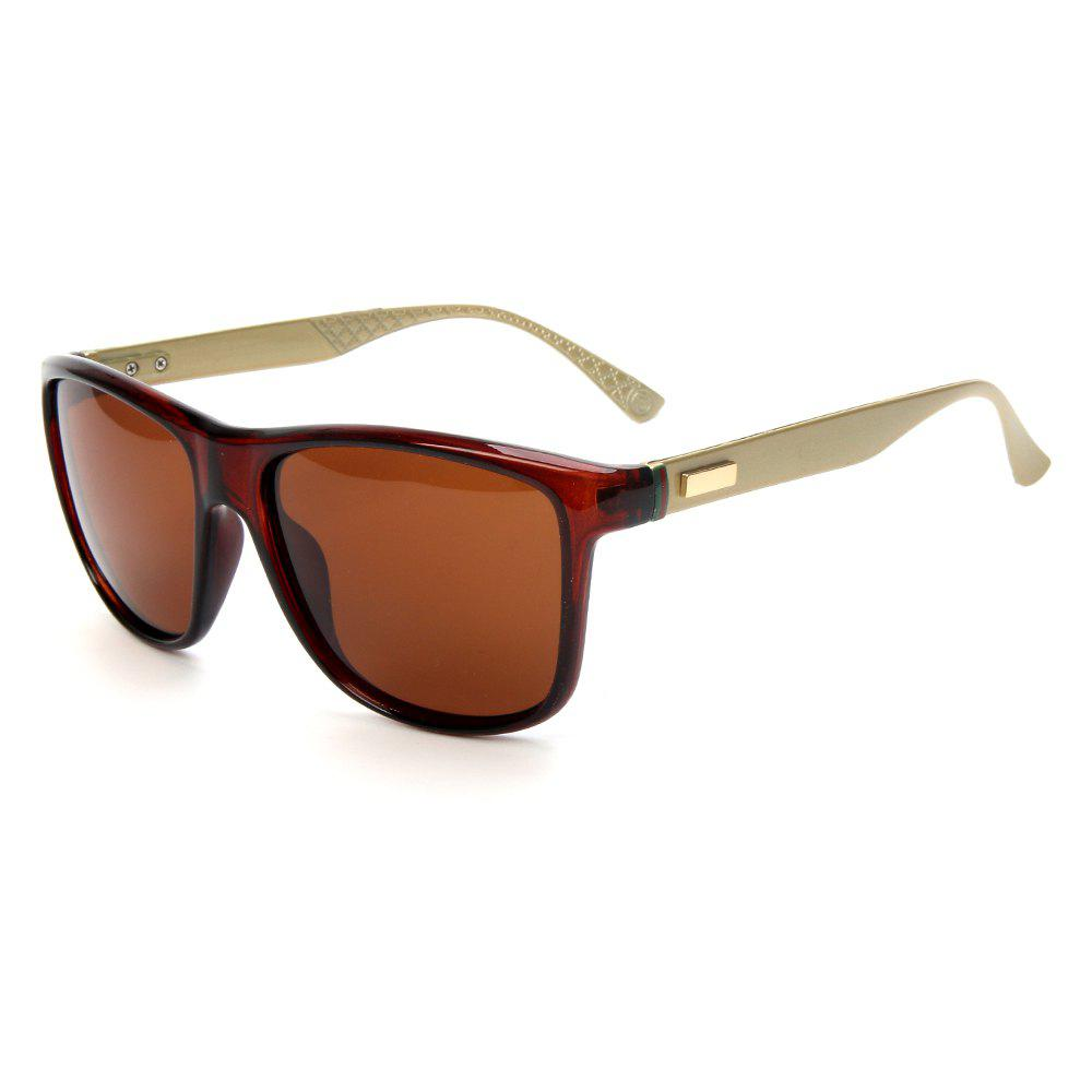 Best TOMYE P6029 2018 New PC Metal Square Frame Driving Polarized Men Sunglasses