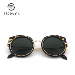 TOMYE 55907 2018 New PC Metal Cat Eye Women Polarized Sunglasses -