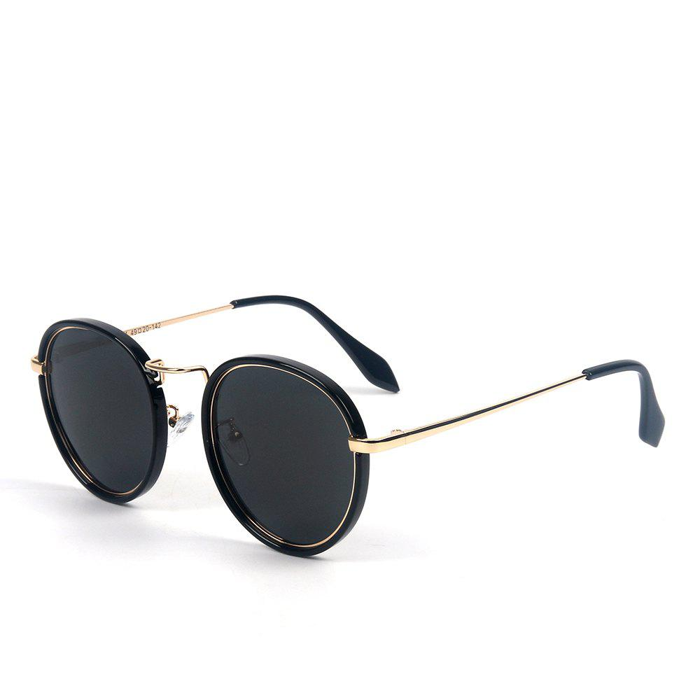 c4c4f8dc9b New TOMYE 55915 2018 New Fashion PC Metal Retro Round Frame Color Polarized  Sunglasses for Women