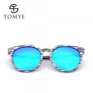 TOMYE 55918 2018 New Fashion PC Retro Cat Eye Color Polarized Sunglasses for Women -