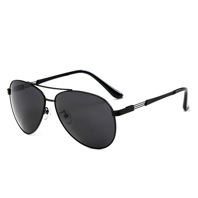 TOMYE 3040 Classic Metal Aviator Polarized Sunglasses for MenACCESSORIES<br><br>Color: BLACK+GREY; Brand: TOMYE; Group: Adult; Gender: For Men; Style: Pilot; Lenses Optical Attribute: Polarized; Lens material: Resin; Frame material: Copper; Lens height: 53mm; Lens width: 64mm; Temple Length: 138mm; Nose: 15mm; Frame Length: 146mm; Product weight: 0.0200 kg; Package weight: 0.0210 kg; Package size (L x W x H): 16.00 x 6.00 x 6.00 cm / 6.3 x 2.36 x 2.36 inches; Package Contents: 1 x Pair of Sunglasses, 1 x Glasses Case, 1 x Glasses Cloth;