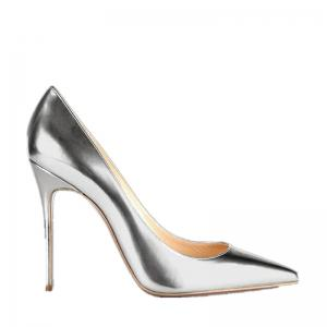 Women's Heels Formal Shoes Leatherette Summer Fall Wedding Party Stiletto Heel Silver Gold -