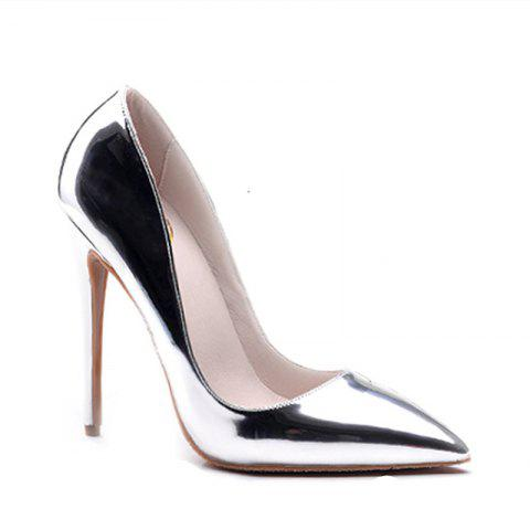 Latest Women's Heels Formal Shoes Leatherette Summer Fall Wedding Party Stiletto Heel Silver Gold