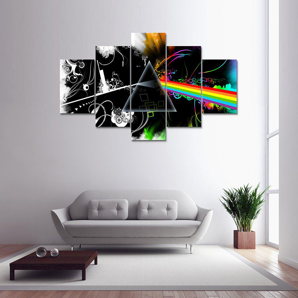Colormix 5 Panel Pink Floyd B Canvas Print Painting Home Decoration