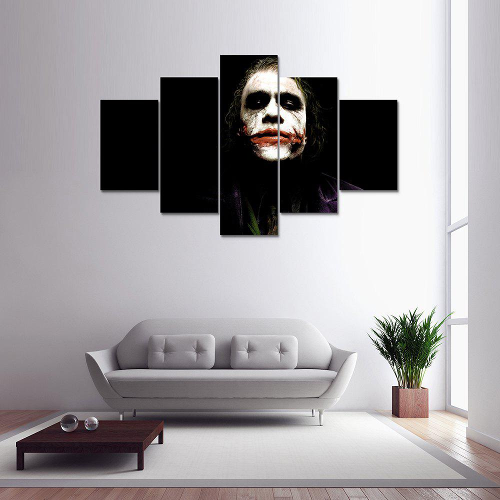5pcs Panel Batman Clown Canvas Print Painting Home Decoration Wall Art PictureHOME<br><br>Color: COLORMIX; Material: Canvas; Shape: Any Shape; Craft: Print; Form: Five Panels; Painting: Without Inner Frame; Subjects: Others; Style: Others; Suitable Space: Bedroom,Dining Room,Kids Room,Living Room,Office,Study Room / Office;