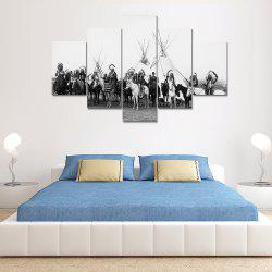 Riding People Canvas Print Painting Home Decor Wall Rrt Picture 5pcs -